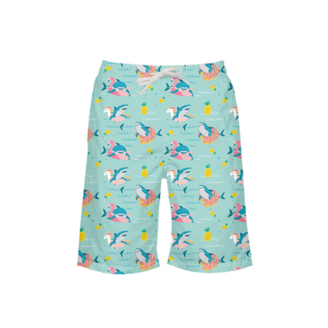 Summer Shark Boy's Swim Trunk - Mermaids and Minis