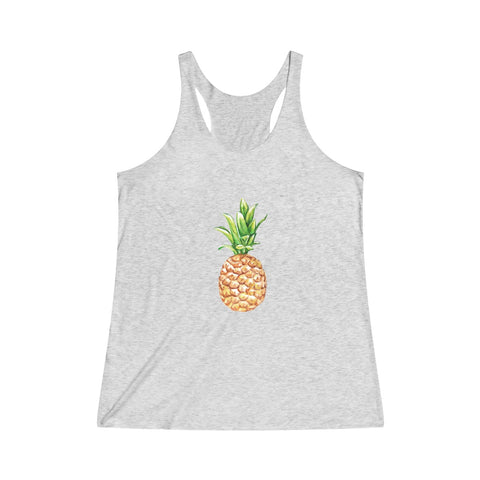 Pineapple Women's Tri-Blend Racerback Tank - Mermaids and Minis