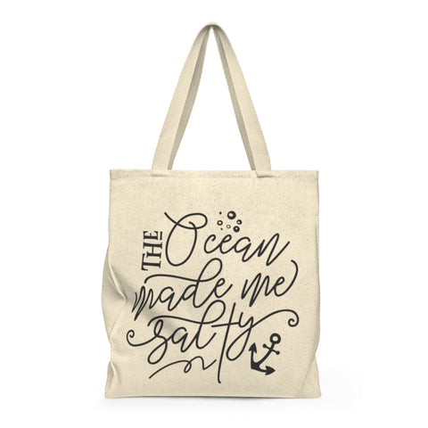 The Ocean made Me Salty - Shoulder Tote Bag - Roomy - Mermaids and Minis
