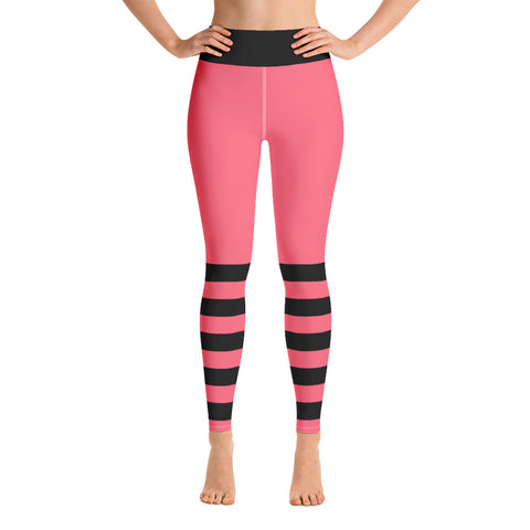 Pink and Black Yoga Leggings - Mermaids and Minis