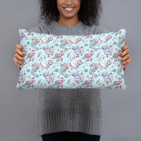 Sea Creatures  Pillow - Mermaids and Minis