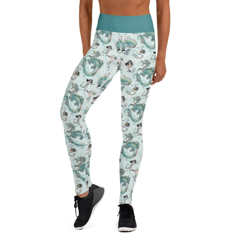 Ryker and Merboy Yoga Leggings - Mermaids and Minis