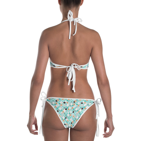 Teal Mermaid Scales Bikini - Mermaids and Minis
