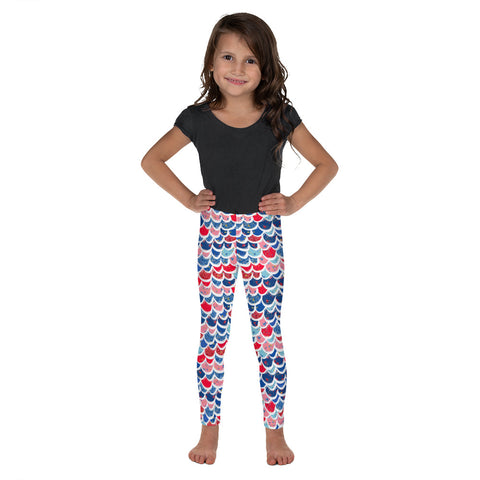 Forth Of July Mermaid Scale All-Over Print Kids Leggings - Mermaids and Minis