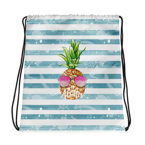 Aloha Funny Pineapple Drawstring bag - Mermaids and Minis