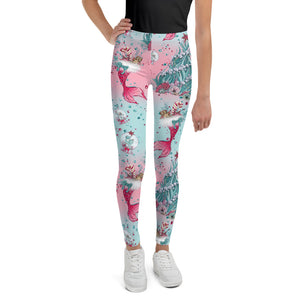 Holiday Mermaid Youth Leggings - Mermaids and Minis