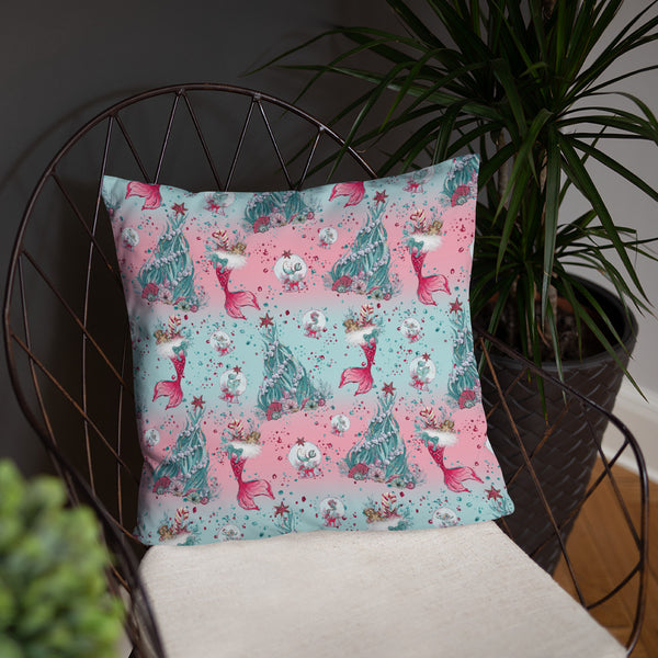 Holiday Mermaid Pillow - Mermaids and Minis