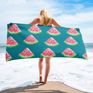 Teal Watermelon Towel - Mermaids and Minis