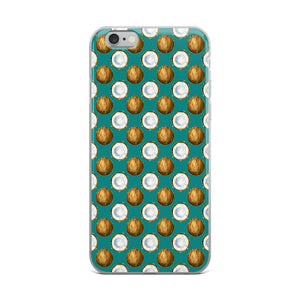 Coconuts Teal iPhone Case - Mermaids and Minis