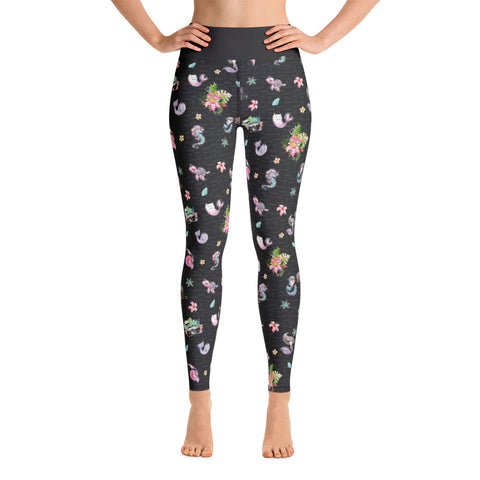The Photographer & Mermaid Aloha Yoga Leggings - Mermaids and Minis