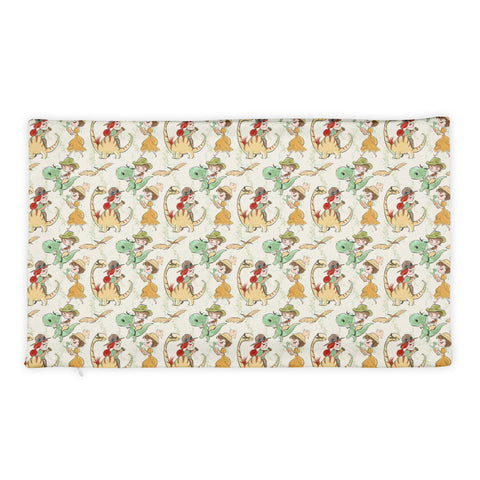 Prehistoric Girl Dinosaurs Pillow Case - Mermaids and Minis