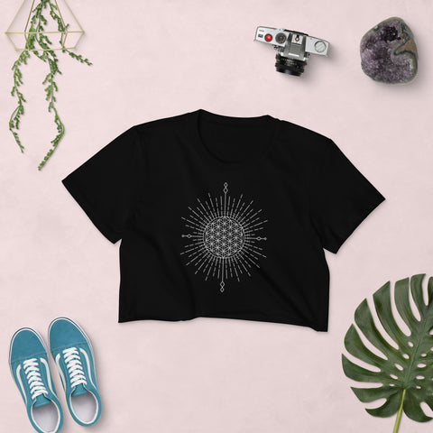 Women's Crop Top Flower Of Life