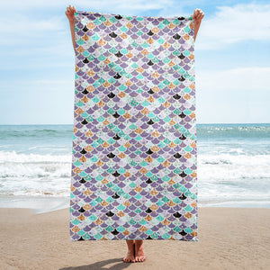 Glitter Mermaid Scale Bath Towel - Mermaids and Minis