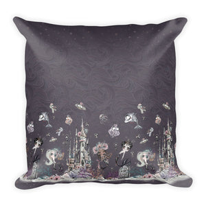Mermaid Scene & Scales Pillow - Mermaids and Minis