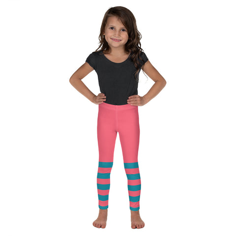 Pink and Teal Kid's Leggings - Mermaids and Minis
