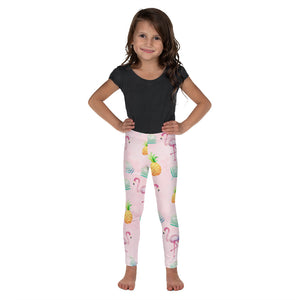 Pink Flamingo Pineapple Kid's Leggings - Mermaids and Minis
