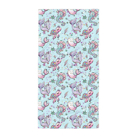 Sea Creatures Towel - Mermaids and Minis
