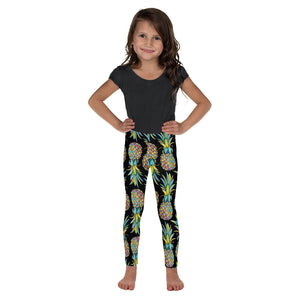 Colorful Pineapple Kid's Leggings - Mermaids and Minis