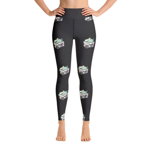 Floral Camera Yoga Leggings - Mermaids and Minis
