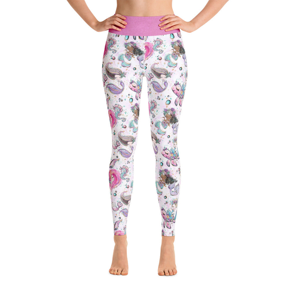 Under The Sea Mermaid Yoga Leggings