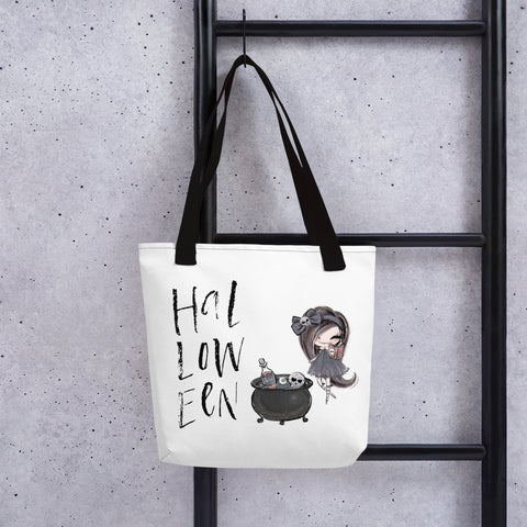 Halloween Witch and Cauldron Tote bag - Mermaids and Minis