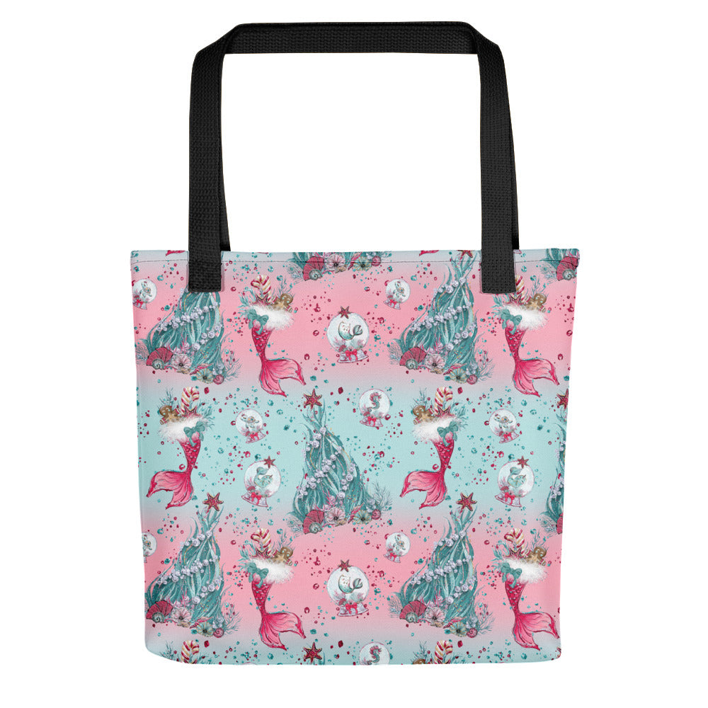 Holiday Mermaid Tote bag - Mermaids and Minis