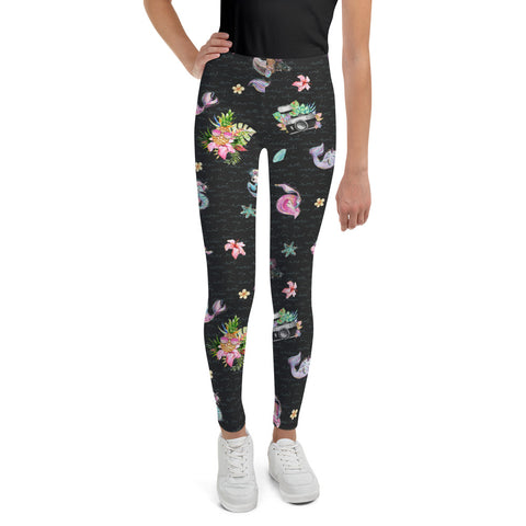 The Photographer & Mermaid Aloha Youth Leggings
