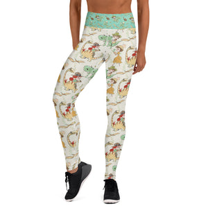 Prehistoric Girl Yoga Leggings - Mermaids and Minis