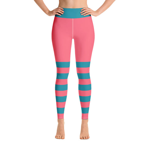 Pink and Teal Yoga Leggings - Mermaids and Minis