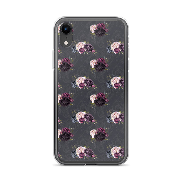 Dark rose floral iPhone Case - Mermaids and Minis