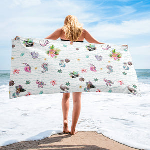 Fun Aloha Camera Mermaid Towel - Mermaids and Minis