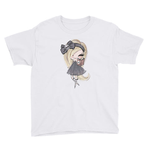 Blonde Witch Halloween Youth Short Sleeve T-Shirt - Mermaids and Minis