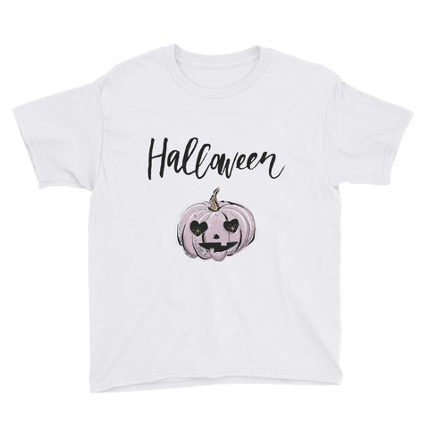 Halloween Pumpkin Youth Short Sleeve T-Shirt - Mermaids and Minis
