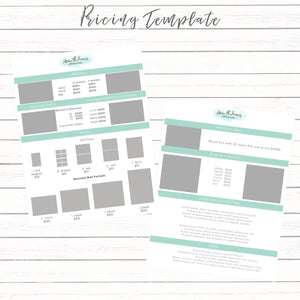 Modern Pricing Template for Prints - Mermaids and Minis