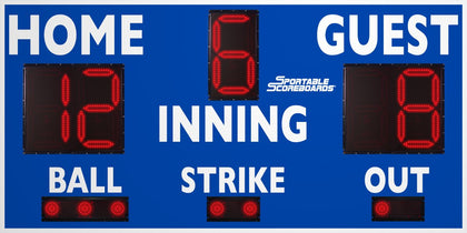 Baseball/Softball LED Scoreboard - Model 3314 - Royal | Murray Sporting Goods