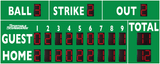 Baseball/Softball LED Scoreboard - Model 3320 - Green | Murray Sporting Goods