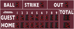 Baseball/Softball LED Scoreboard - Model 3320 - Maroon | Murray Sporting Goods