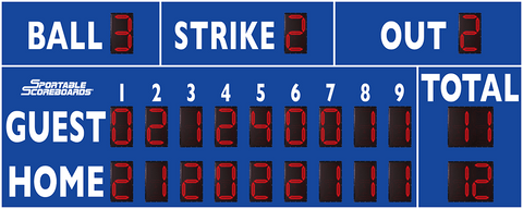 Baseball/Softball LED Scoreboard - Model 3320 - Royal | Murray Sporting Goods