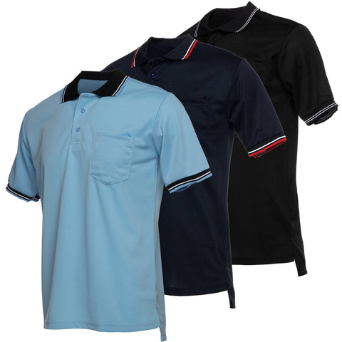 Murray Sporting Goods Baseball & Softball Umpire Shirt - Light Blue, Navy Blue, Black