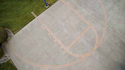 Murray Sporting Goods Basketball Stencil Court Marking Kit - Top View