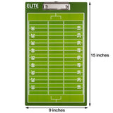Elite Dry Erase Football Coaches Clipboard - Dimensions