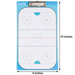 Elite Dry Erase Hockey Coaches Clipboard - Dimensions