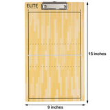 Elite Dry Erase Volleyball Coaches Clipboard - Dimensions