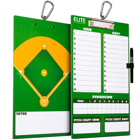 Elite Dry Erase Baseball Coaches Clipboard - Side by Side