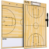 Elite Coaches Clipboard Basketball Dry Erase - Side by Side with Marker