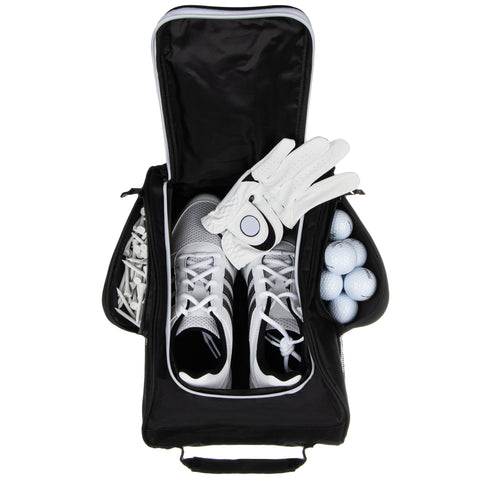 Stripe Golf Shoe Carrier Bag - Store Golf Shoes, Golf Gloves, Tee, Golf Balls, Etc.