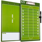 Elite Dry Erase Football Coaches Clipboard - Side by Side