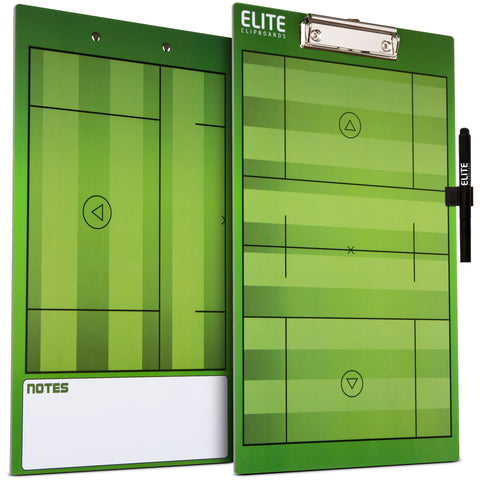 Elite Dry Erase Lacrosse Coaches Clipboard - Side by Side