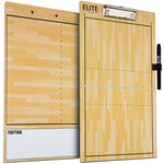 Elite Dry Erase Volleyball Coaches Clipboard - Side by Side