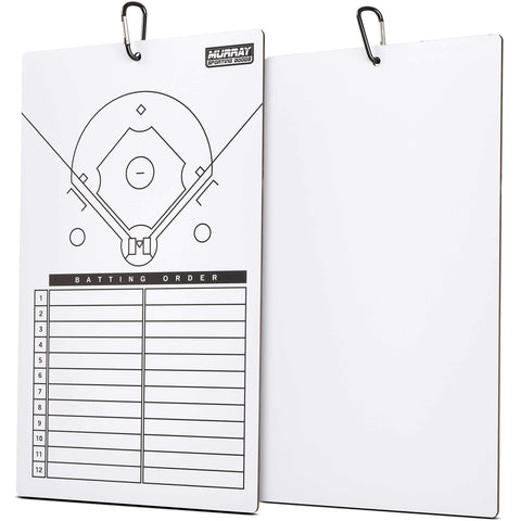 Murray Sporting Goods Dry Erase Baseball Coaches Clipboard - Double-Sided